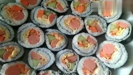 1分钟教你怎么卷寿司, 做法非常简单