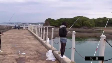 海边碰到一位女孩在钓鱼, 看到渔获不得不佩服她的耐心!