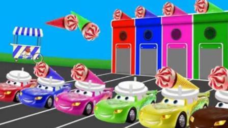幼儿益智动漫: 闪电麦昆运彩色冰激凌学习颜色和数字