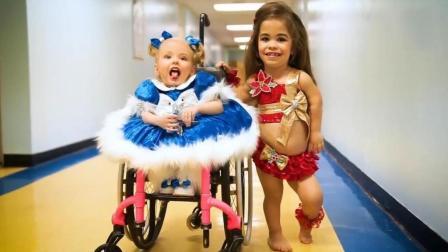 残疾双胞胎姐妹成为选美皇后, 身高不足1米3