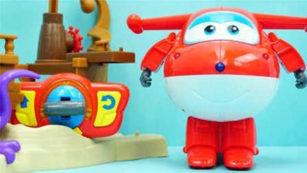 超级飞侠的遥控版乐迪 变形机器人玩具