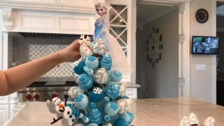 真实还原《冰雪奇缘》蛋糕, 竟全都是棒棒糖组成的, 太有感觉了!