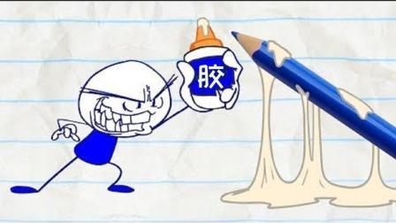 创意铅笔动画: 作弊被抓到现场的铅笔人