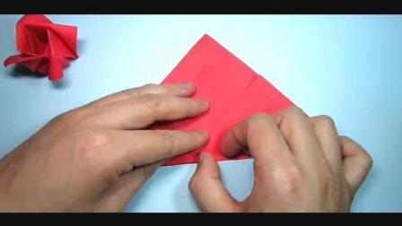 儿童趣味手工折纸: 简单又漂亮的玫瑰花折法