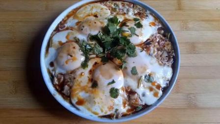 香菇蒸鸡蛋的家常做法, 香菇鲜美, 鸡蛋嫩滑, 好看又好吃