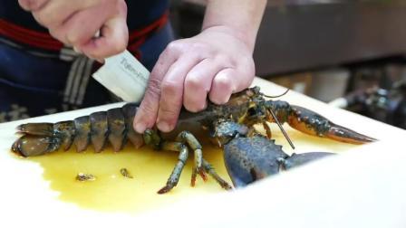 日本路边小吃, 龙虾拉面烤芝士海鲜, 太好吃啦! 吃货天堂!