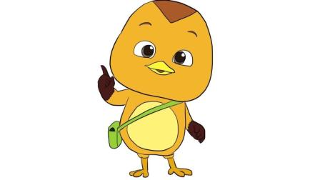 动画片萌鸡小队之可爱大宇儿童卡通简笔画