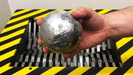 无坚不摧的粉碎机, 遇到一个锡箔纸球, 瞬间歇菜了