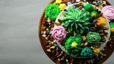 5种超简单的花式蛋糕做法, 不同的花朵, 一学就会!