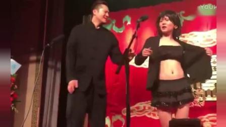 德云社相声的创新, 孟鹤堂穿女装, 粉丝嗓子要喊破了! 钢丝节也太嗨了, 观众直接笑抽了!