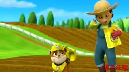 《汪汪队立大功》小力真是农夫优美的好助手, 咕咕鸡却不一样, 哈