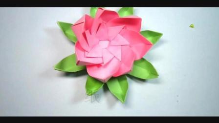 儿童手工趣味折纸: 还记得那首蓝莲花么? 这个纸莲花的折法送给你
