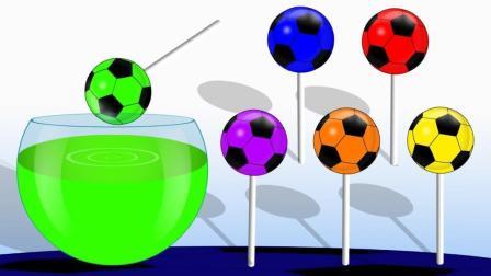 足球变彩蛋装载彩色棒棒糖