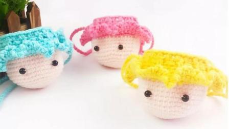 暖阳绒绒第12集小洋人装蛋袋的编织教程怎么编图解视频