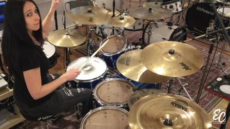 《实用技巧》女鼓手Emmanuelle Caplette - Lesson Triplet Drum Fills FREE