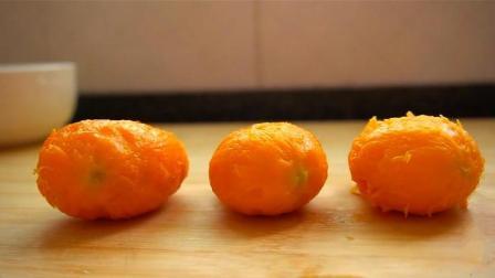 两碗糯米粉, 三个芒果, 做出软糯喷香的小点心, 孩子都爱吃