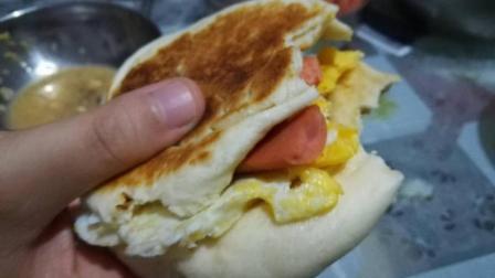 第十二季香梨歌 家常大饼的做法, 中式汉堡就是这样吃的