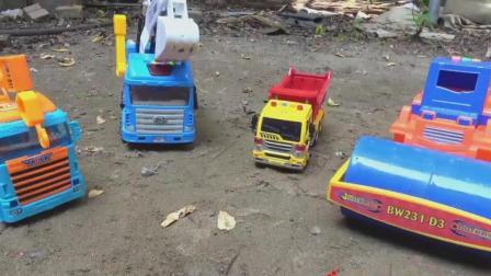 大象请客吃西瓜, 汽车挖掘机修路, 婴幼儿宝宝玩具游戏视频C309