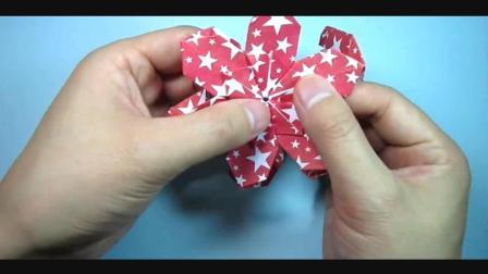 儿童趣味手工折纸: 简单又漂亮的花球折法