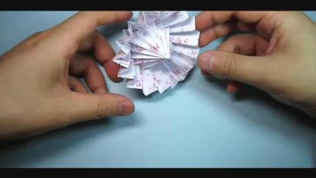 儿童趣味手工折纸: 简单能收缩的油纸伞折法