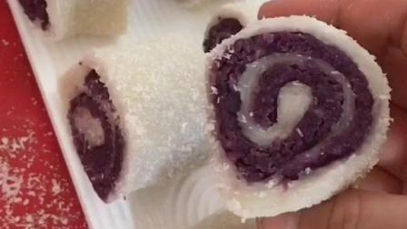 椰奶紫薯蛋糕
