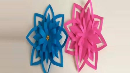 教你一张彩纸简单几步DIY漂亮的手工花朵