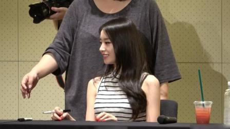 """人气组合T-ara成员朴智妍在签售会上""""求拥抱""""被拒, 女神好委屈"""