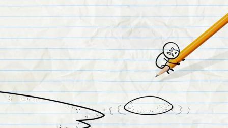 人生地不熟隐形人再现如遇至亲 铅笔人被送回荒岛 创意铅笔动画