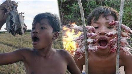 农村兄弟挖到一串这种东西, 直接烤了吃, 看完你敢吃吗?