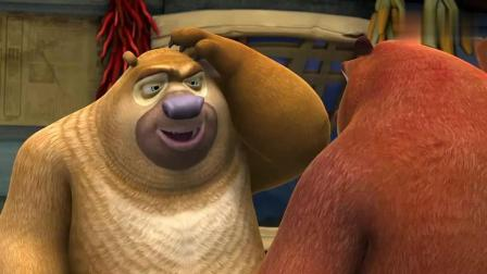 熊出没: 熊二做的拉面, 强哥吃了肚里应该全是熊毛