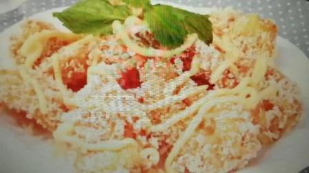 香酥虾排制作——餐饮人张静波