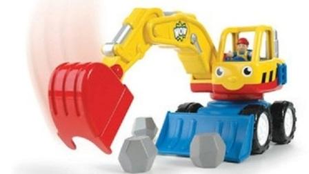 儿童玩具启蒙教育:最新挖掘机工作视频 儿童挖掘机动画片