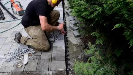 看看德国民工是怎么用砖铺地的, 看了以后竟然无言以对