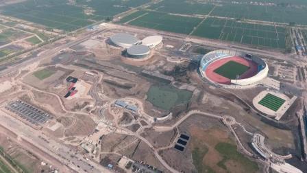 江苏省宝应县城南体育公园工程建设2018.4.16