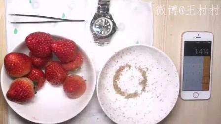 【王村村】一颗草莓有多少籽? ? ? (密恐慎入)