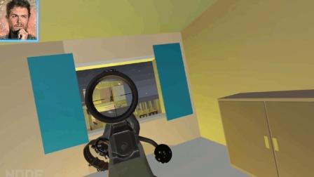 老外玩VR射击游戏, 这枪法没谁了...
