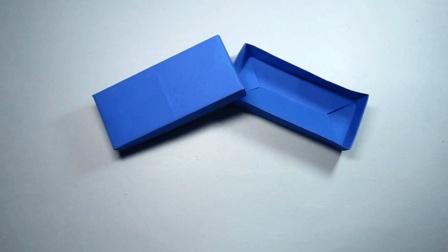 3分钟折纸漂亮又简单的长方形盒子, 长方形收纳盒的折法视频