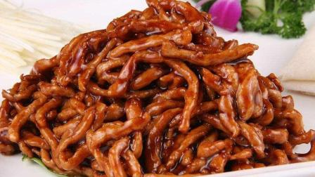 京酱肉丝这样做, 酱香浓郁, 风味独特, 配上小饼和葱丝, 全家都爱吃