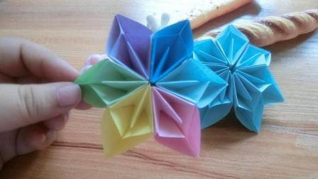 漂亮的折纸花做法其实很简漂亮的小女孩都喜欢的折纸手工视频