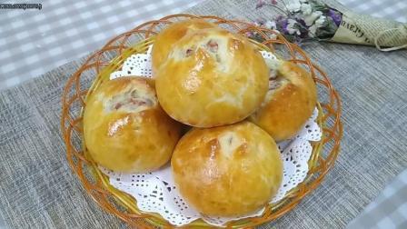 薯泥培根面包, 色泽金黄简单好做, 新手零失败