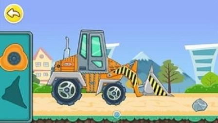 乐高挖掘机吊车   儿童挖掘机动画片 儿童吊车工作视频