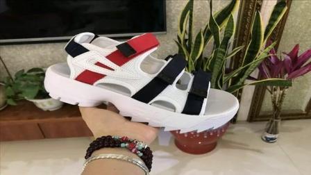 Fila 凉鞋 斐乐FILA disruptor2 sandal 破坏者2夏季沙滩魔术贴厚底凉鞋