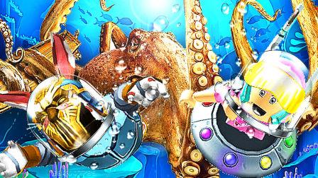 【吊德斯&小熙】 Roblox荒岛求生模拟器 海底沉船附近被巨型章鱼怪袭击!