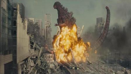 日本东京出现怪兽, 一脚能踏平整个东京, 用上亿吨凝血剂制服了它