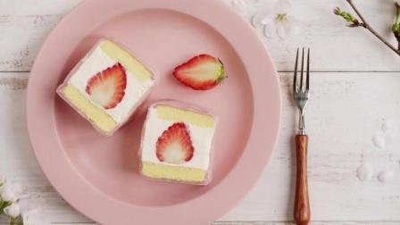 草莓白玉卷的制作方法蛋糕