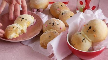 教你做好吃又可爱的兔子面包, 小孩子最爱吃