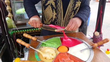 土耳其街头的糖果小吃, 做法挺特别的, 不知道味道如何?