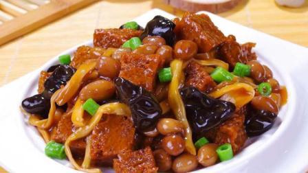 """上海名菜""""四喜烤麸"""", 手把手教你做, 酱汁浓郁, 比熟食店的还好吃"""