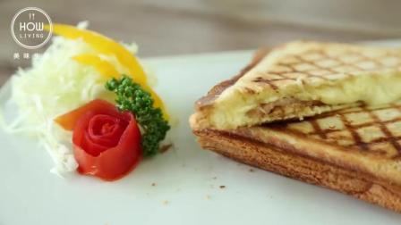 面包片新吃法, 加上芝士和火腿风味不一样