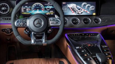 奔驰AMG GT四门轿跑! 说实话, 这个氛围灯我真的喜欢!